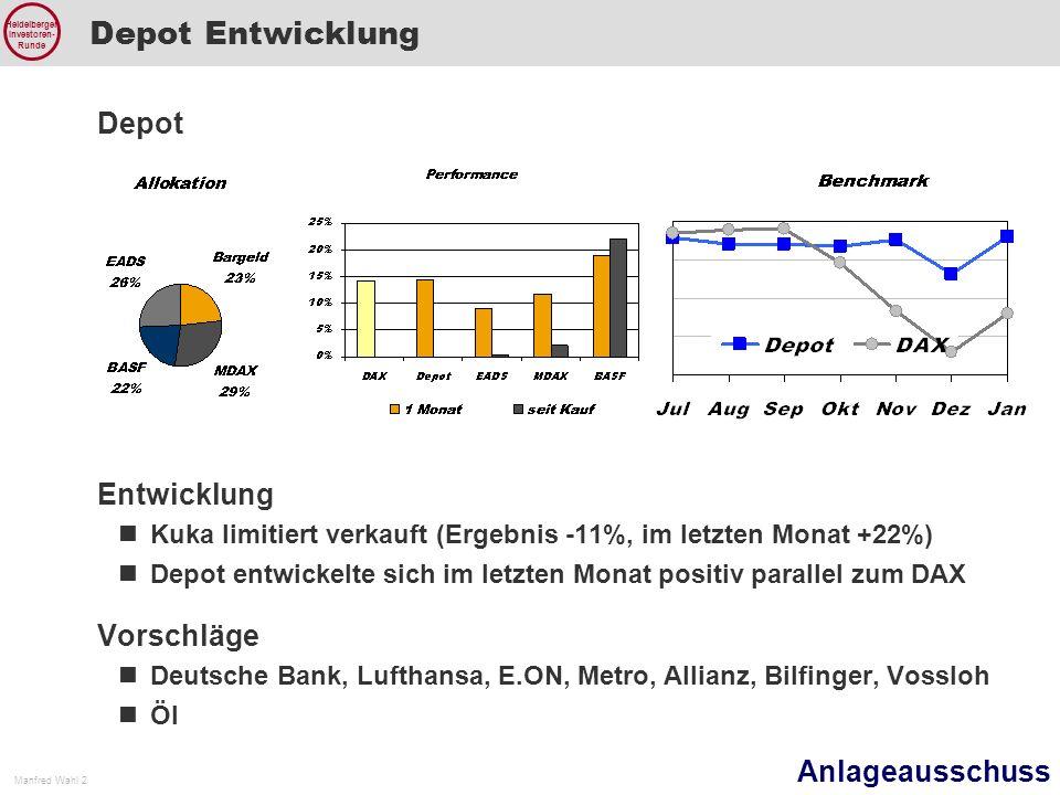 Depot Entwicklung Depot Entwicklung Vorschläge
