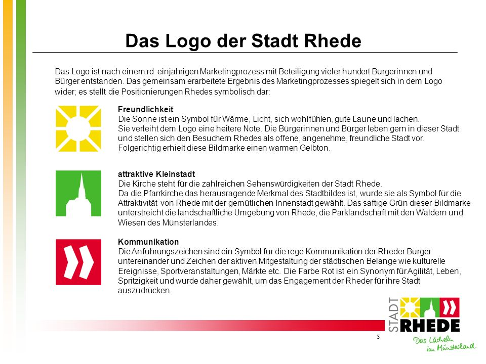 Das Logo der Stadt Rhede