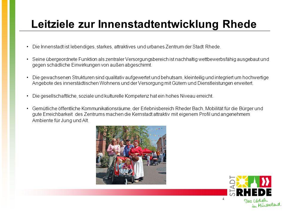Leitziele zur Innenstadtentwicklung Rhede