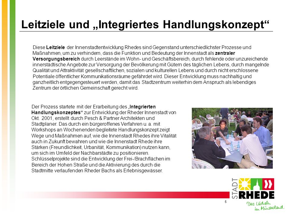 """Leitziele und """"Integriertes Handlungskonzept"""