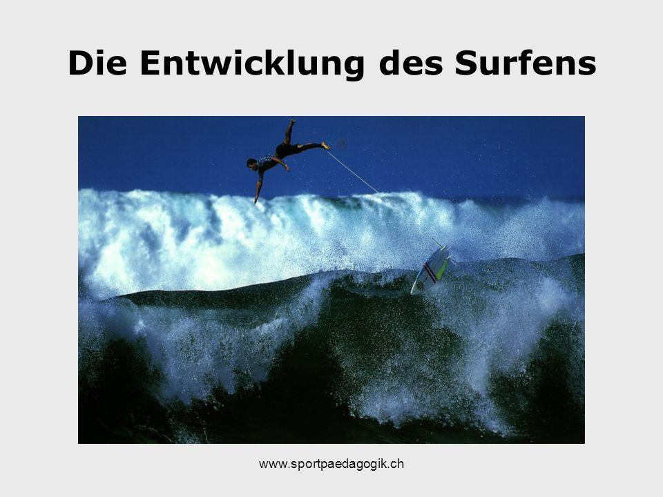 Die Entwicklung des Surfens