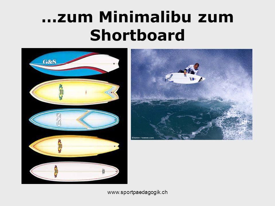 …zum Minimalibu zum Shortboard