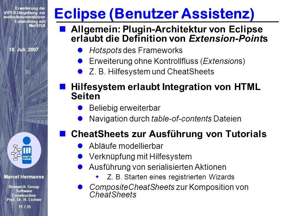 Eclipse (Benutzer Assistenz)