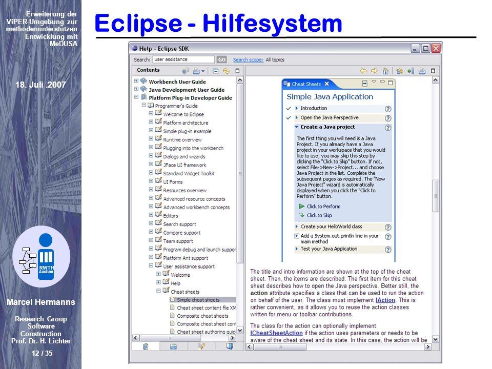 Eclipse - Hilfesystem