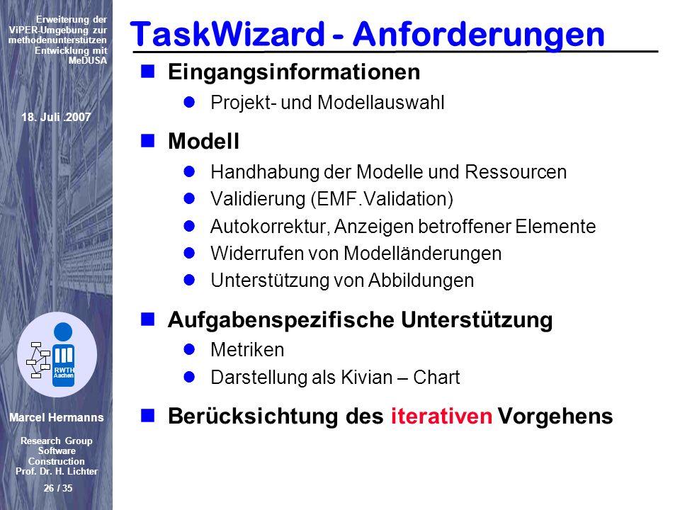 TaskWizard - Anforderungen