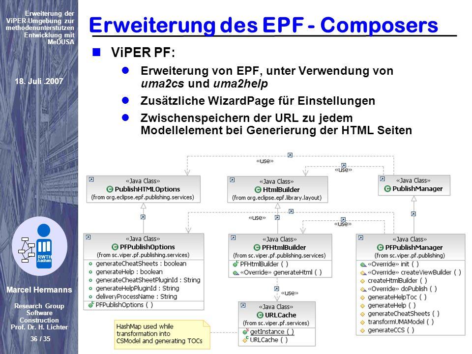 Erweiterung des EPF - Composers