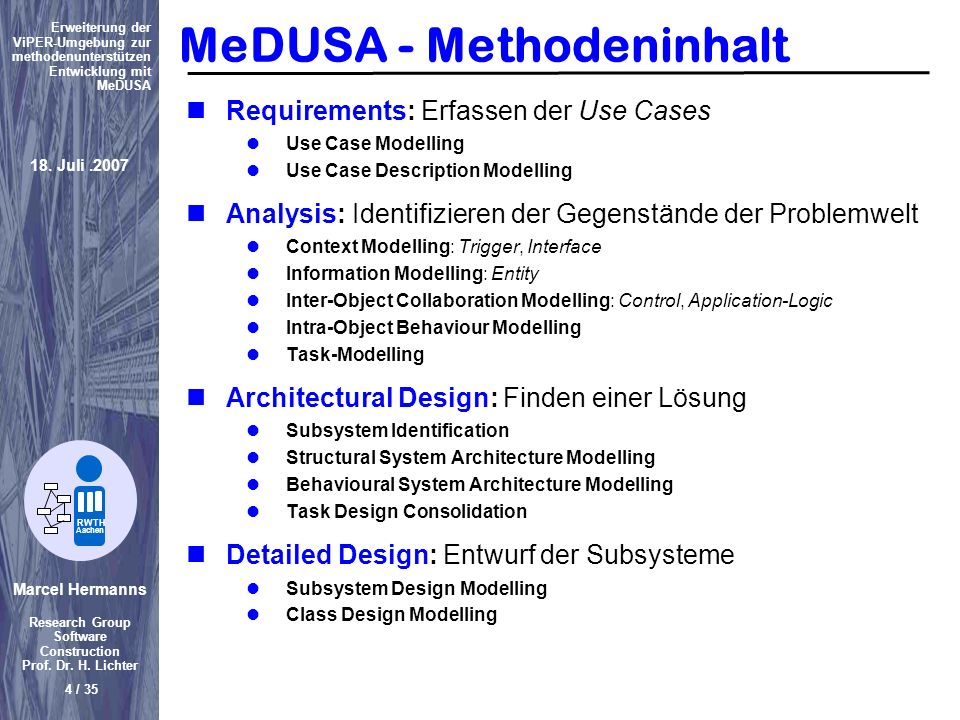 MeDUSA - Methodeninhalt