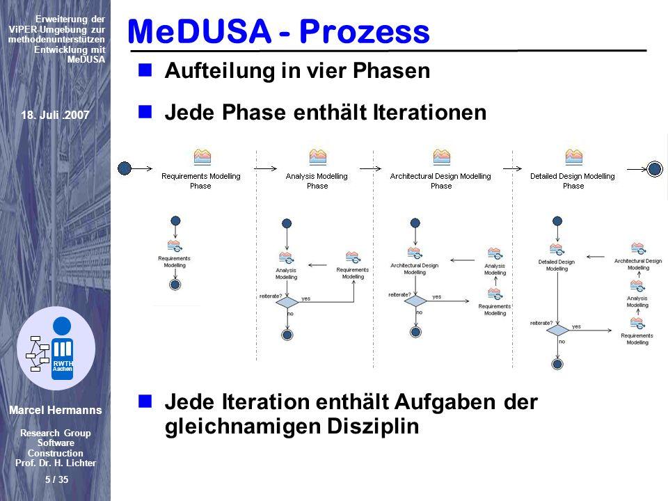MeDUSA - Prozess Aufteilung in vier Phasen