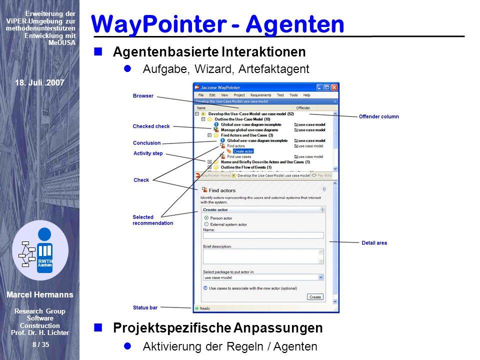 WayPointer - Agenten Agentenbasierte Interaktionen