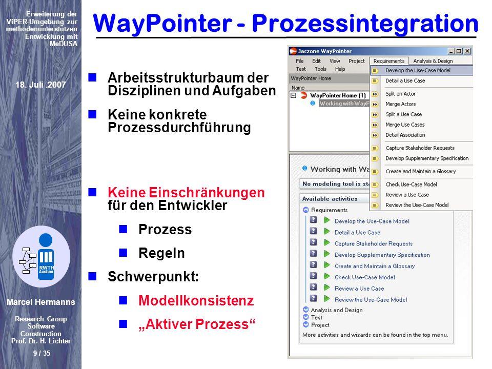 WayPointer - Prozessintegration