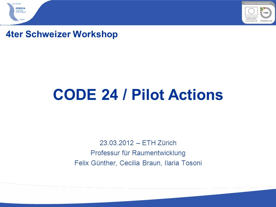 4ter Schweizer Workshop