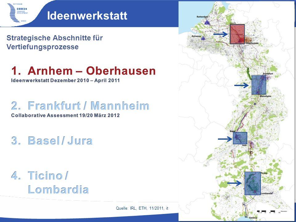 Ideenwerkstatt Arnhem – Oberhausen Frankfurt / Mannheim Basel / Jura