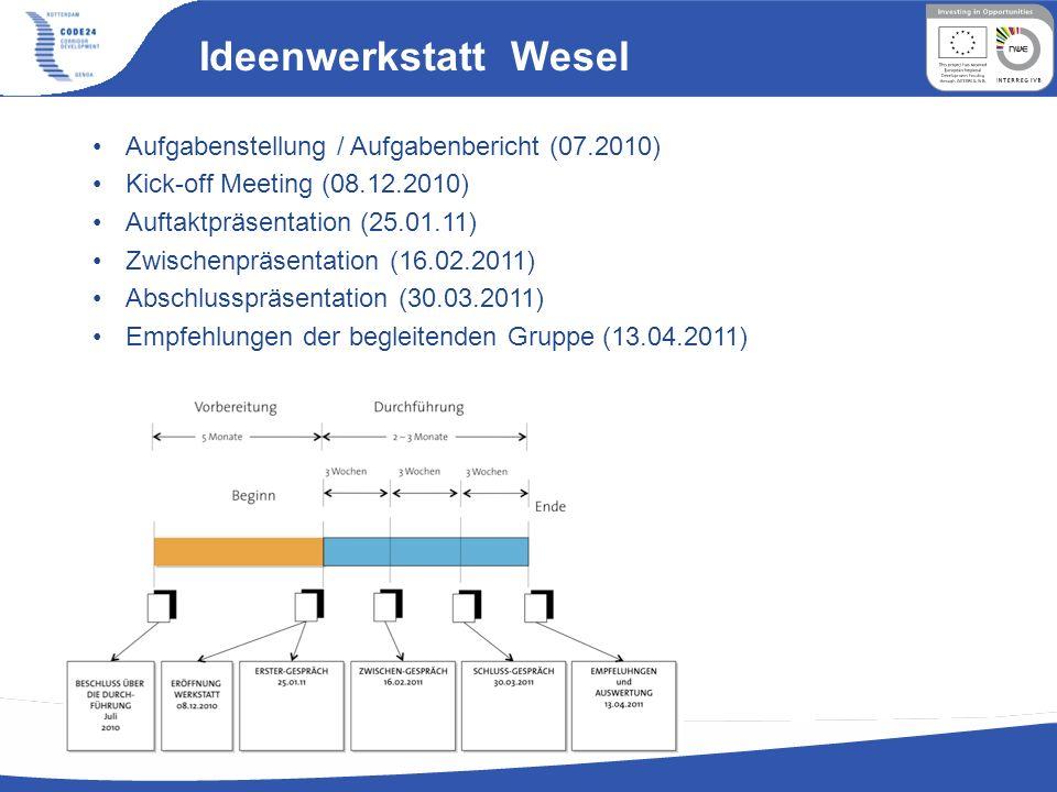 Ideenwerkstatt Wesel Aufgabenstellung / Aufgabenbericht (07.2010)