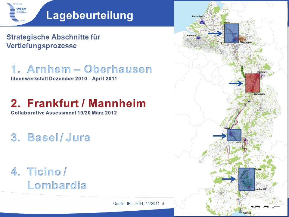 Lagebeurteilung Arnhem – Oberhausen Frankfurt / Mannheim Basel / Jura
