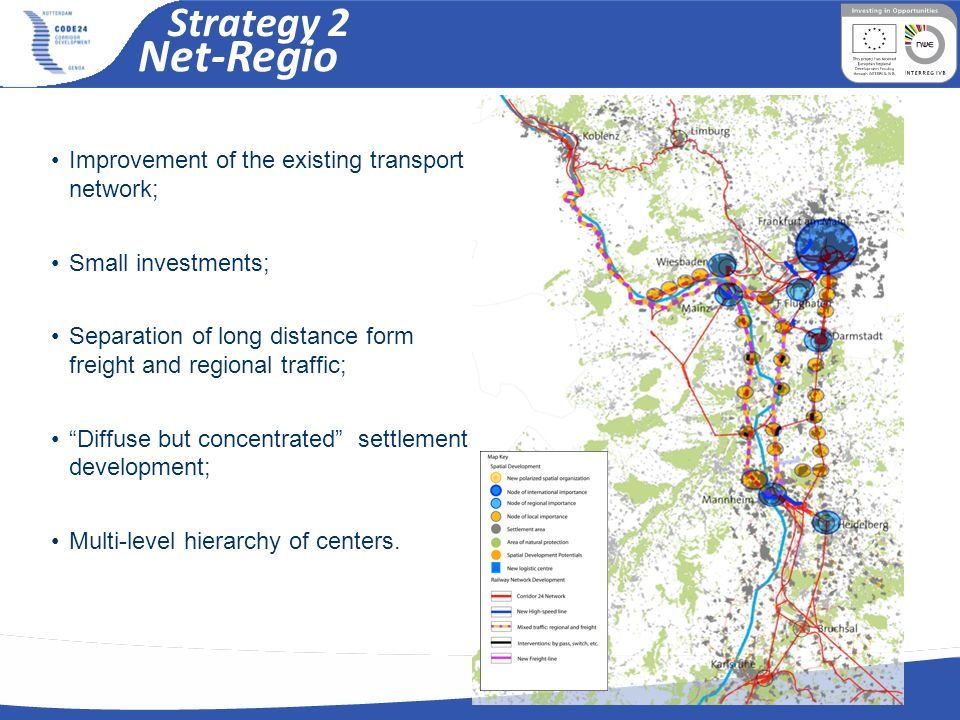 Net-Regio Strategy 2 Improvement of the existing transport network;