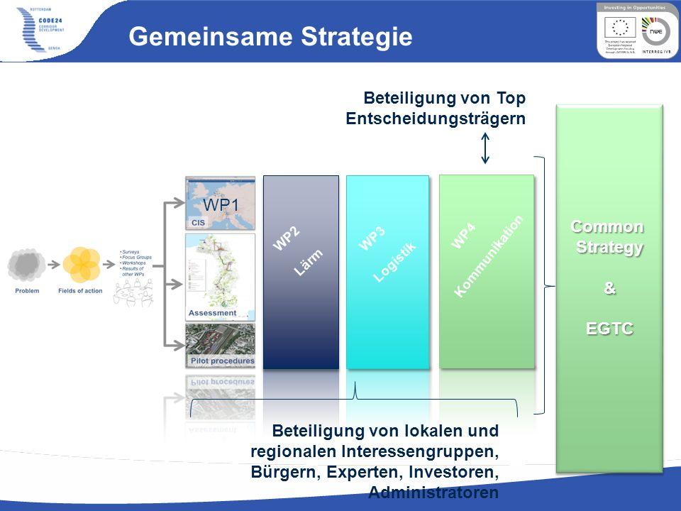 Gemeinsame Strategie Beteiligung von Top Entscheidungsträgern WP1