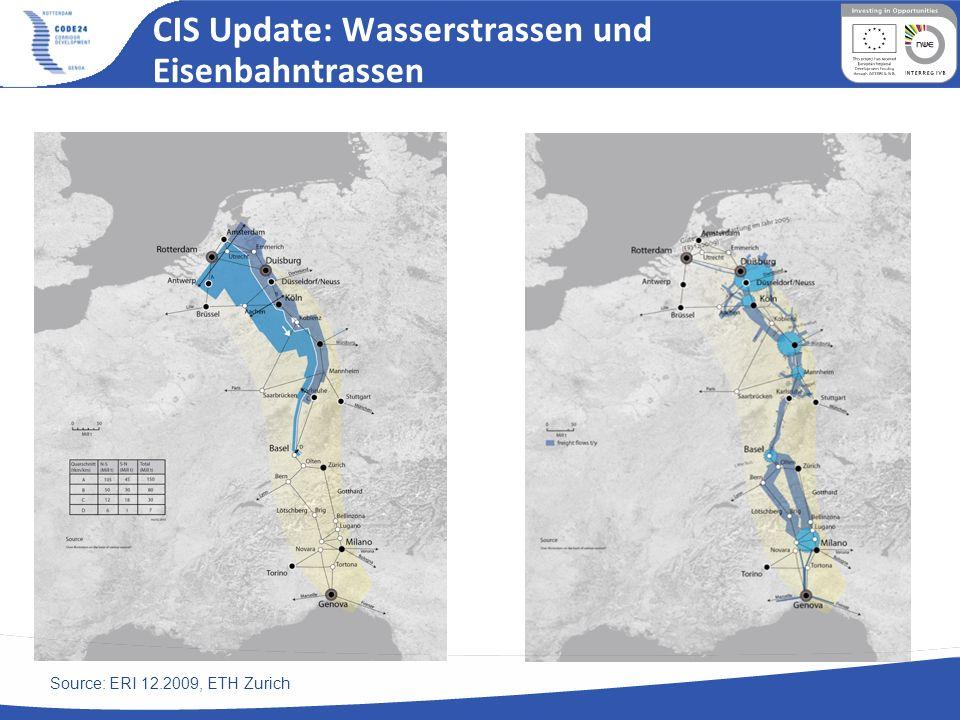 CIS Update: Wasserstrassen und Eisenbahntrassen
