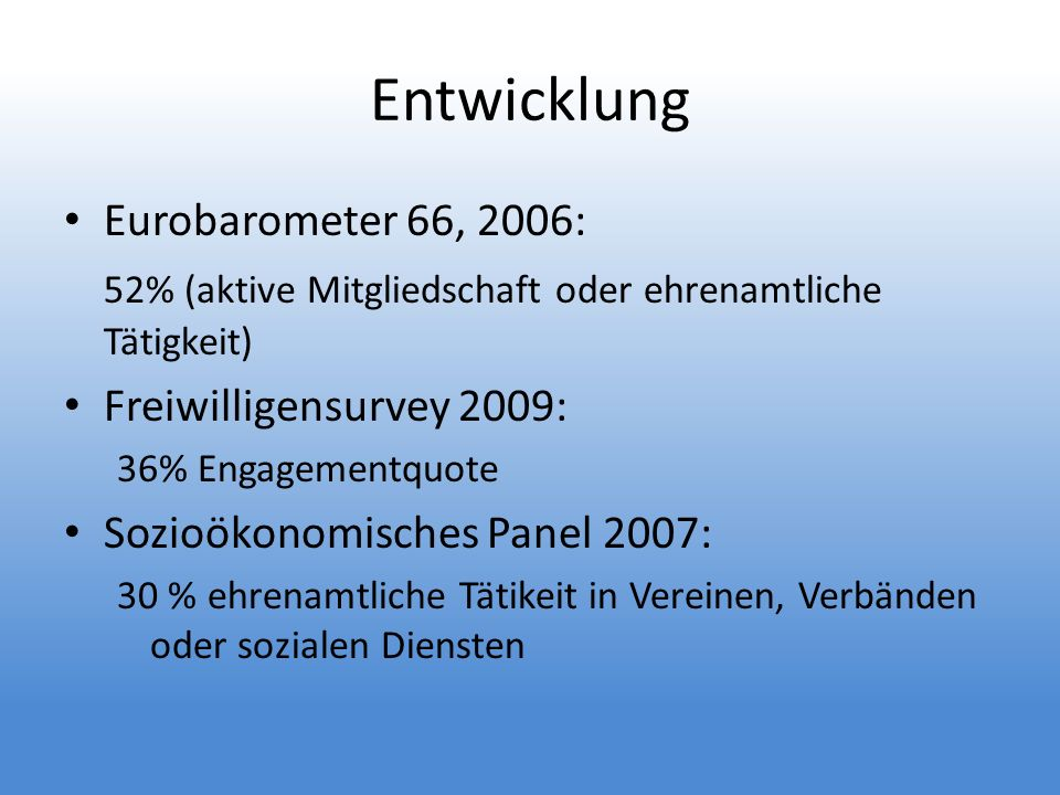 Entwicklung Eurobarometer 66, 2006: