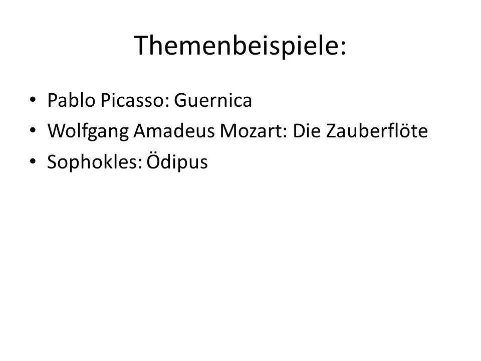 Themenbeispiele: Pablo Picasso: Guernica
