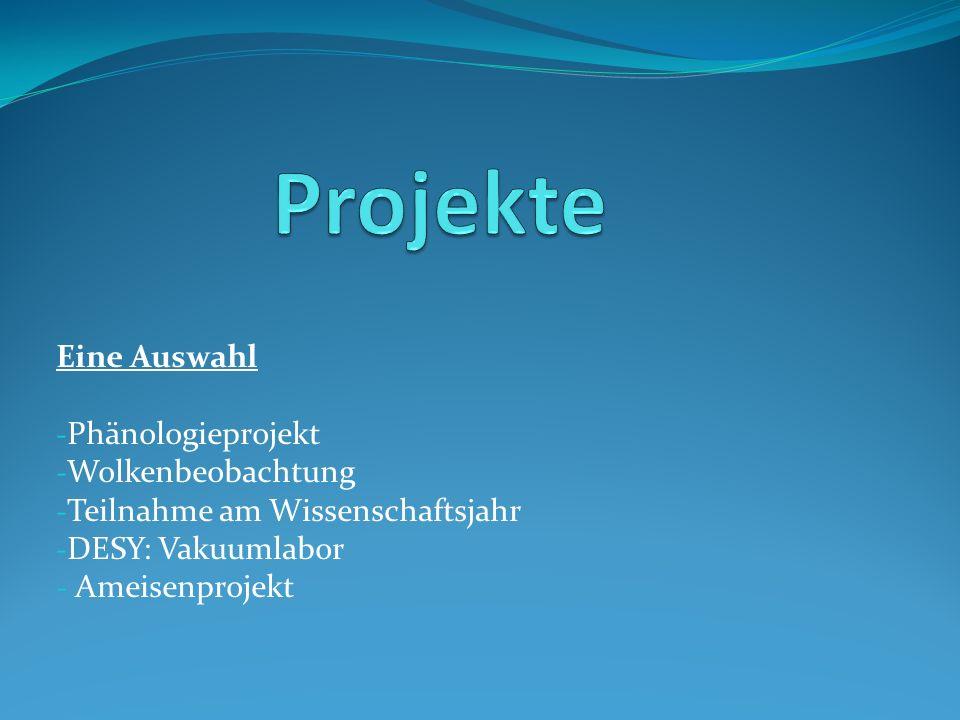 Projekte Eine Auswahl Phänologieprojekt Wolkenbeobachtung
