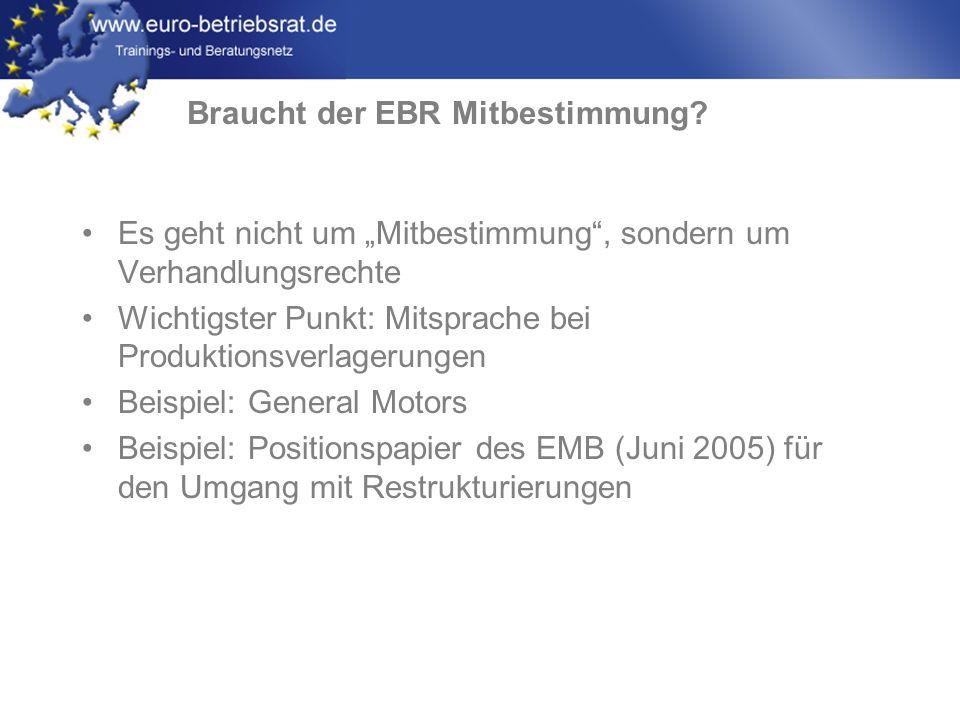 Braucht der EBR Mitbestimmung