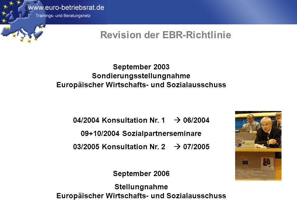 Revision der EBR-Richtlinie
