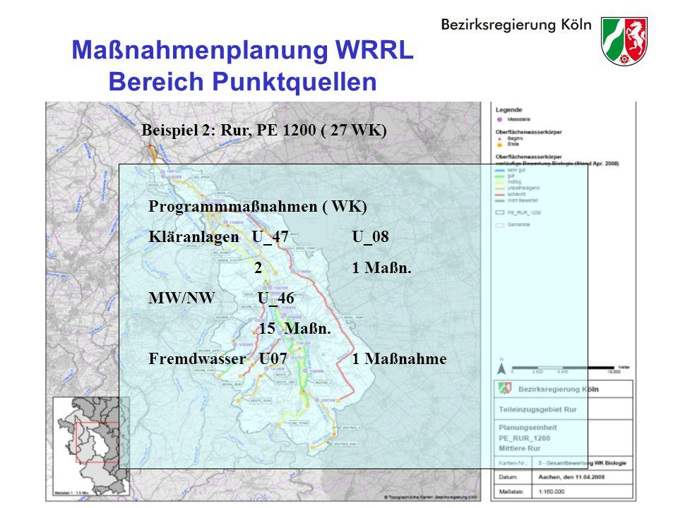 Maßnahmenplanung WRRL Bereich Punktquellen