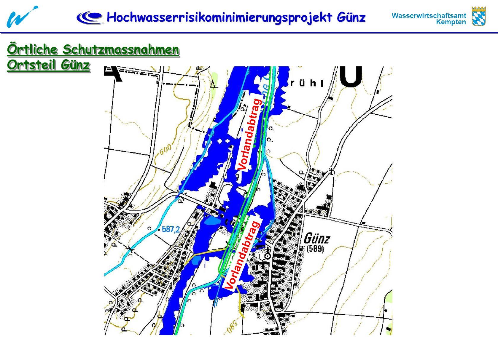 Örtliche Schutzmassnahmen Ortsteil Günz