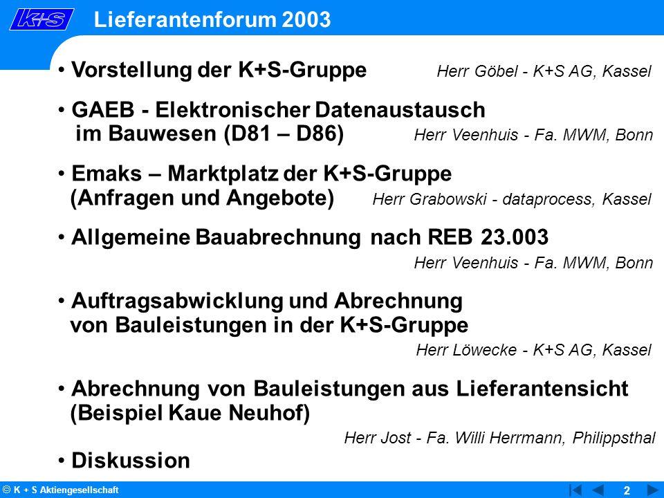 Vorstellung der K+S-Gruppe Herr Göbel - K+S AG, Kassel