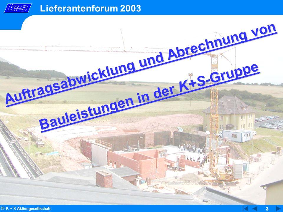 Auftragsabwicklung und Abrechnung von Bauleistungen in der K+S-Gruppe