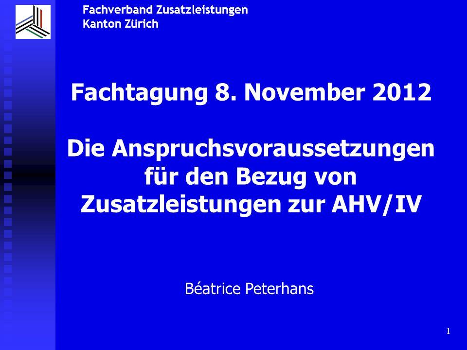 Fachverband Zusatzleistungen Kanton Zürich