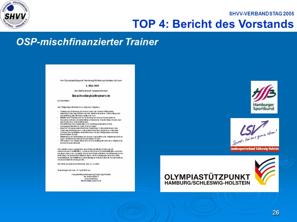 OSP-mischfinanzierter Trainer