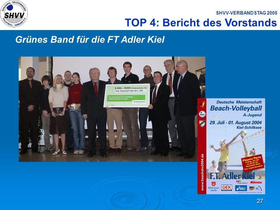 Grünes Band für die FT Adler Kiel