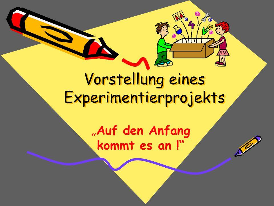 Vorstellung eines Experimentierprojekts