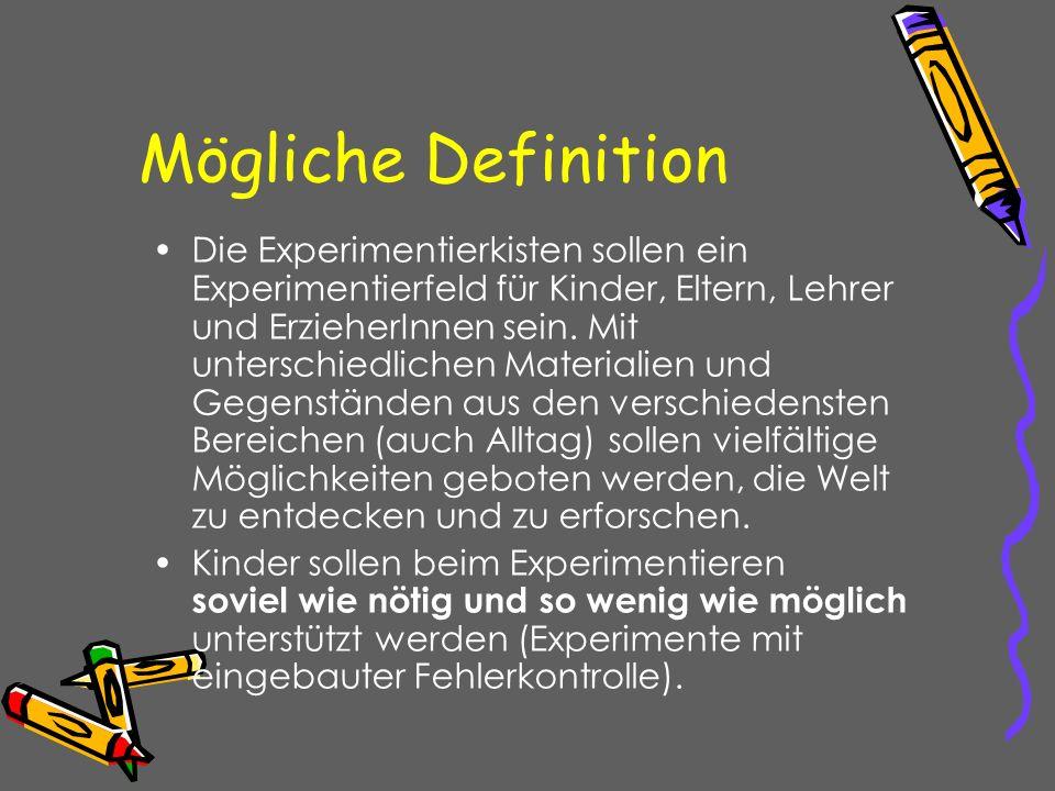 Mögliche Definition