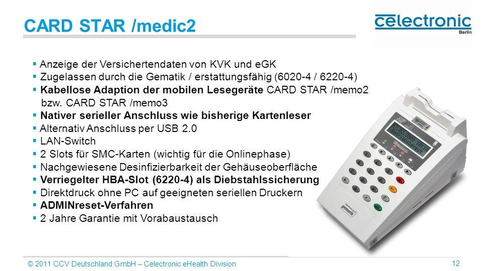 CARD STAR /medic2 Anzeige der Versichertendaten von KVK und eGK