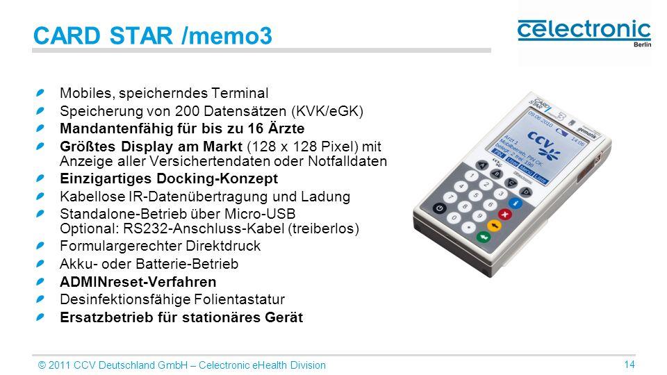 CARD STAR /memo3 Mobiles, speicherndes Terminal