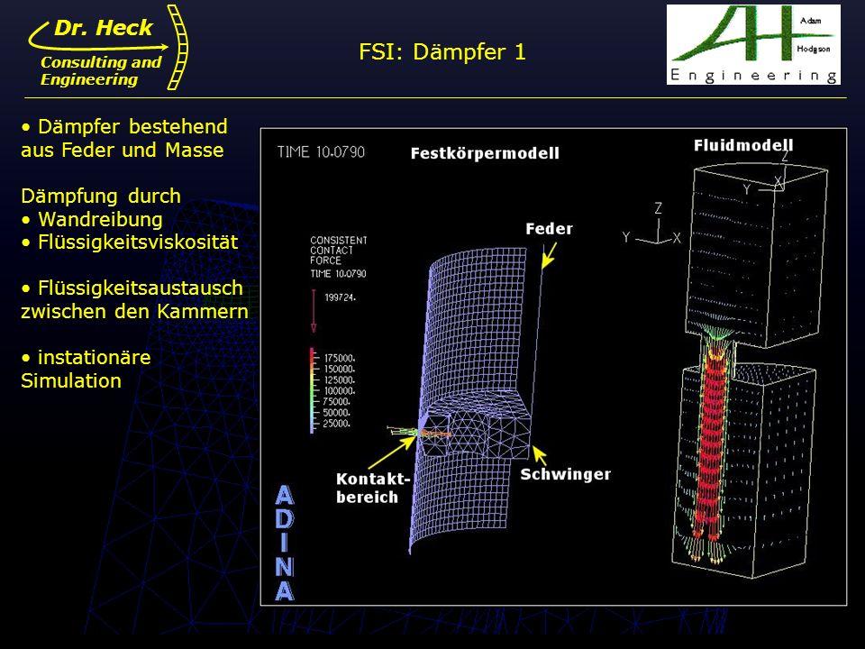 FSI: Dämpfer 1 Dr. Heck Dämpfer bestehend aus Feder und Masse