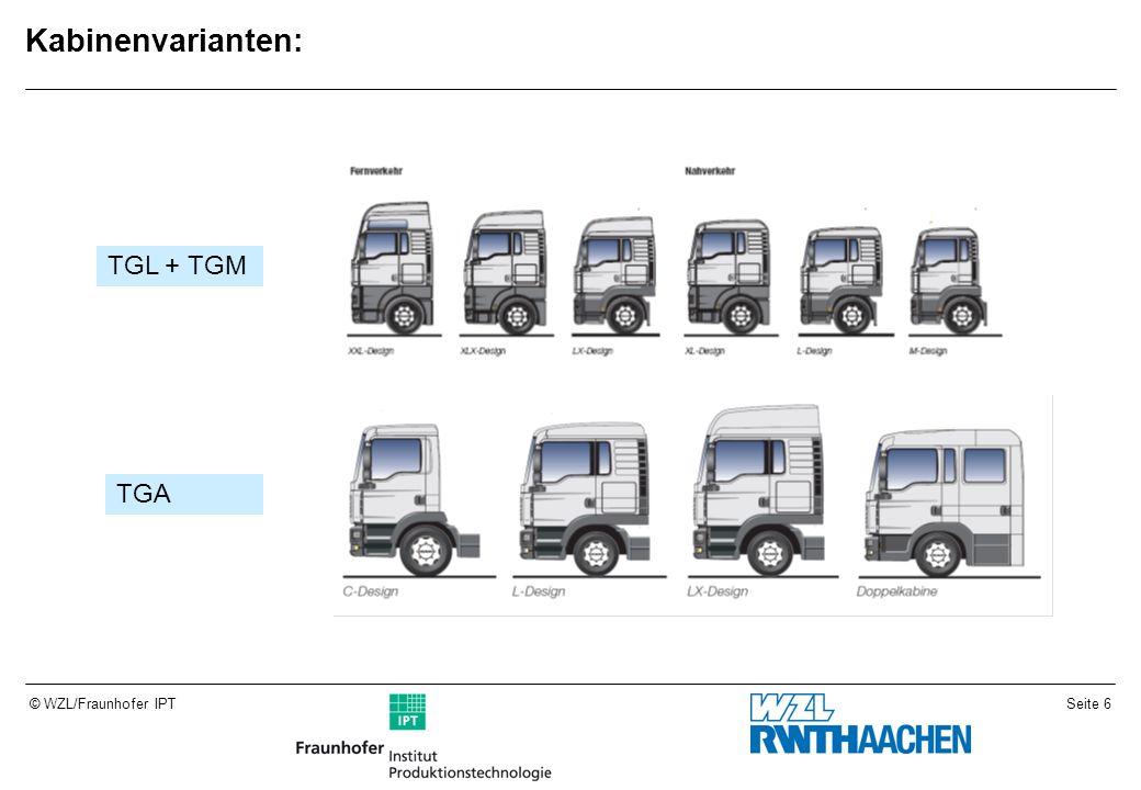 Kabinenvarianten: TGL + TGM TGA