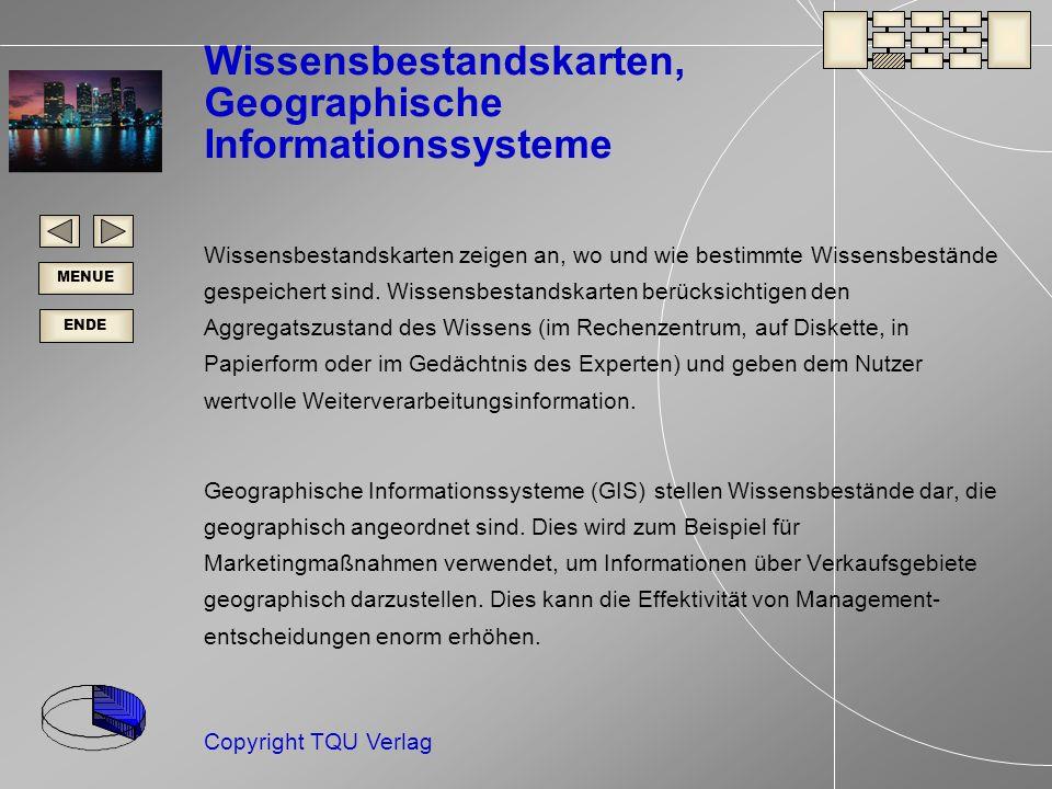 Wissensbestandskarten, Geographische Informationssysteme
