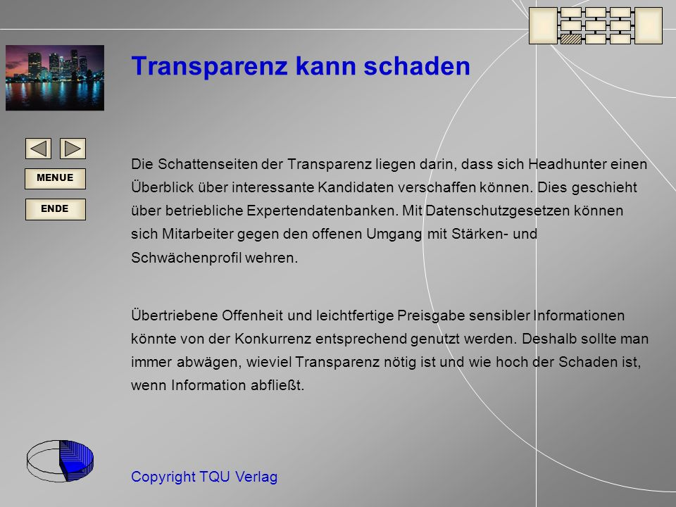 Transparenz kann schaden