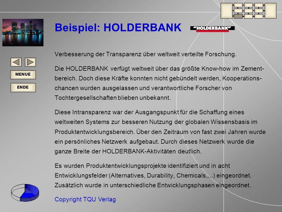 Beispiel: HOLDERBANK Verbesserung der Transparenz über weltweit verteilte Forschung.
