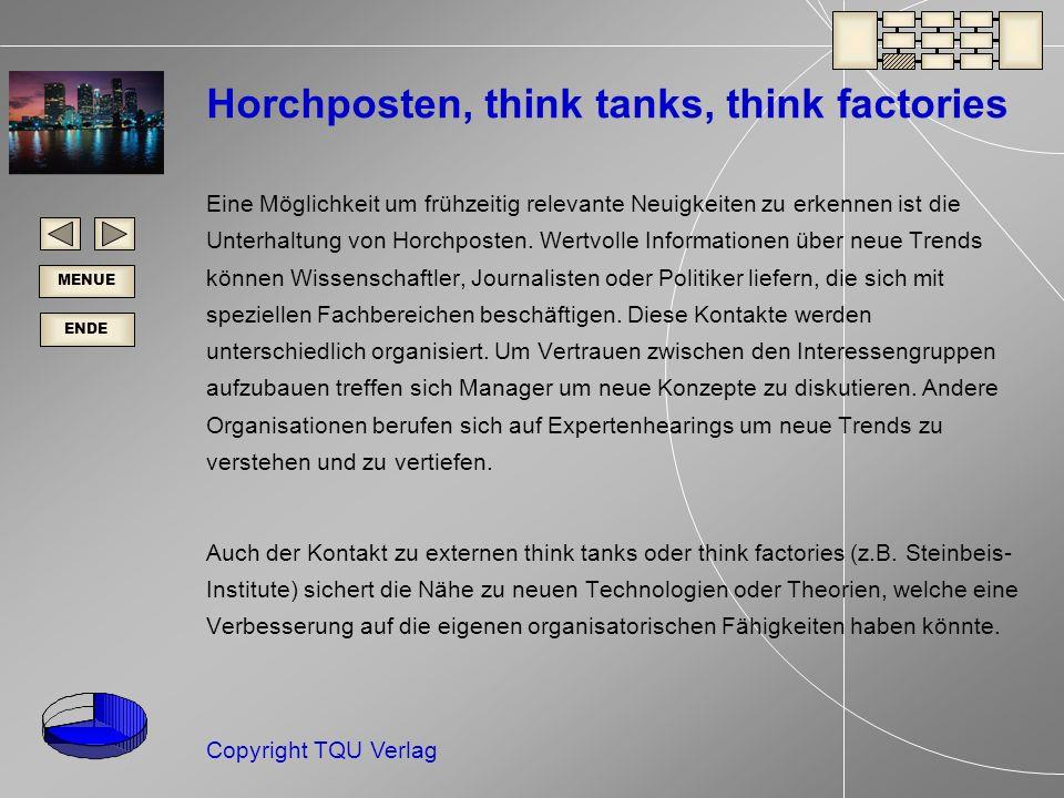 Horchposten, think tanks, think factories