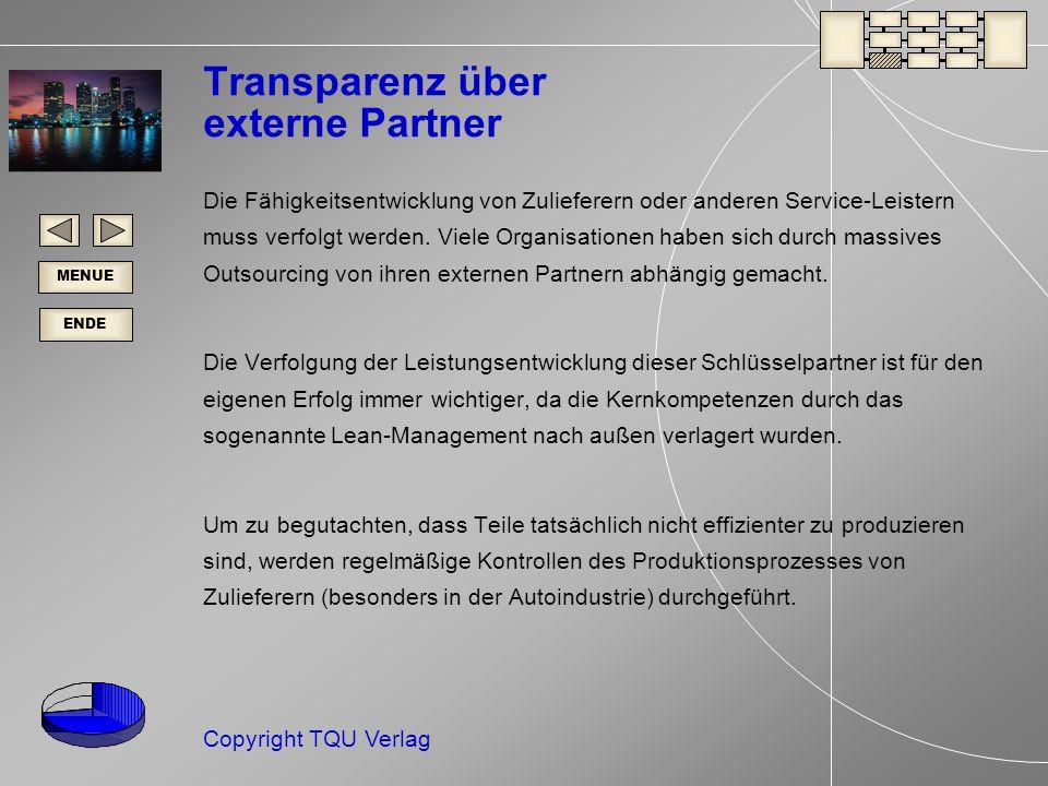 Transparenz über externe Partner