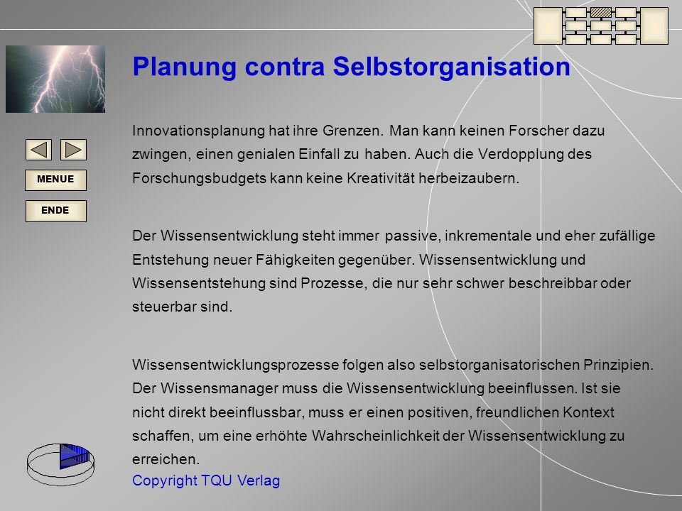 Planung contra Selbstorganisation