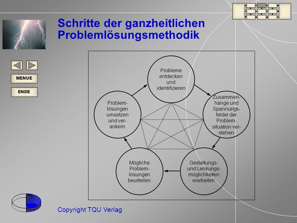 Schritte der ganzheitlichen Problemlösungsmethodik