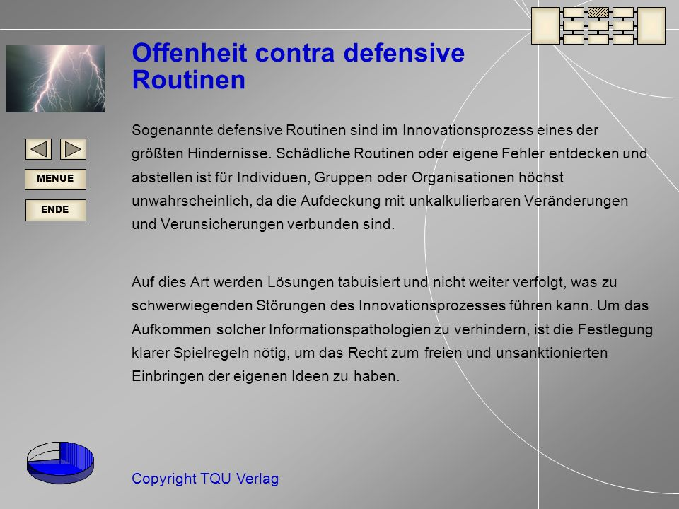 Offenheit contra defensive Routinen
