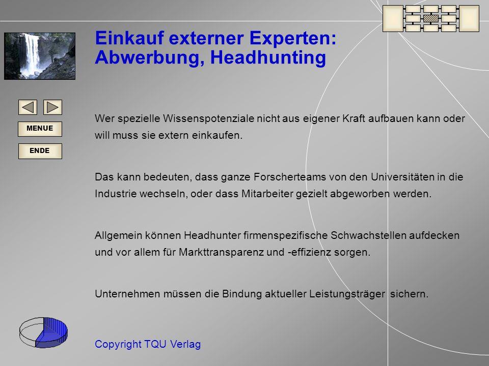 Einkauf externer Experten: Abwerbung, Headhunting