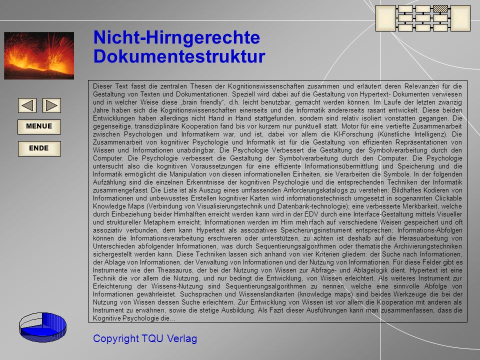 Nicht-Hirngerechte Dokumentestruktur
