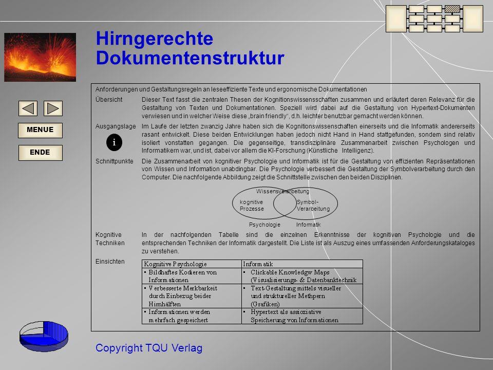 Hirngerechte Dokumentenstruktur